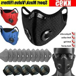 Reusable Masks+Sport Valve+Purifying Carbon Filters Pads Res