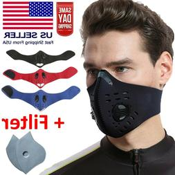 Reusable Neoprene Face Mask with Dual Air Filter Breathing V