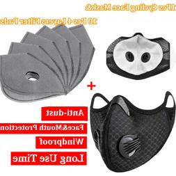 Reusable Outdoor Sports Mouth Mask With 4-Layer Filters Pad