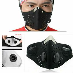 Reusable Sport Face Mask with 5 Layer Filter Pads Anti-Pollu