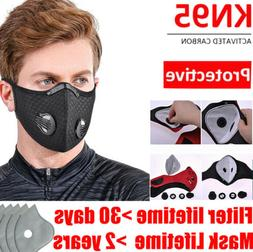 Reusable Sport Mouth Mask With Breath valve & 10PC Activated