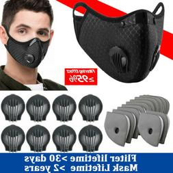 Reusable Sports Face Masks and Activative Carbon Filter Pad