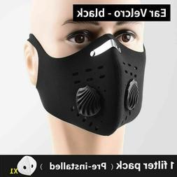 Reusable Washable Neoprene Air Ventilation Sport Face Mask +