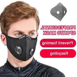 Reusable Washable Sport Face Mask With Breathing Valves & 3/