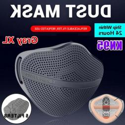 Safety Mask Separate Mouth Nose With 5 Filters PM2.5 Respira