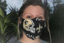 Saints Face Mask Double Layer Cloth 100%  Cotton Face Mask