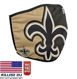 Saints Face Mask. New Orleans Washable Cotton NFL Team NEW F