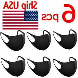 SALE! 6 PCS - 6 Pack- Face Mask Reusable Washable Unisex Bla