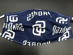 San Diego Padres Baseball Washable Reusable Face Mask In Sto