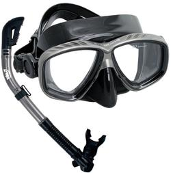 Scuba Diving Snorkeling Mask 100% Dry Snorkel Water Sports G
