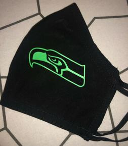 seattle seahawks black filter mask reusable bulk