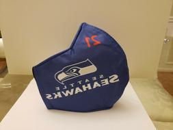 Seattle SEAHAWKS, FACE MASK Adult, TRIPLE LAYERED HIGH QUALI