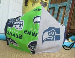 Seattle Seahawks Face Mask Handmade Reversible Washable New