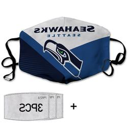 Seattle Seahawks NFL-cotton face mask with 03 activated carb