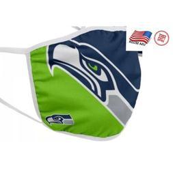 Seattle Seahawks NFL Face Mask Washable/Reusable Cotton Fast