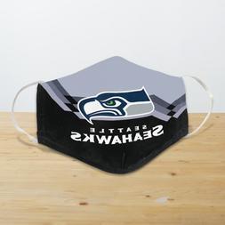 Seattle Seahawks Reusable Cotton Face Masks Unisex Adult Mou