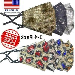 Sequin Glitter Face Mask Fashion Bling Sparkly Masks Luxury
