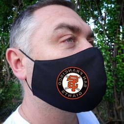 SF GIANTS Baseball Sport Team Logo Face Mask Washable 100%Co
