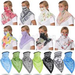 Silk Breathable Neck Gaiter Face Bandana Scarf Wrap Dustproo