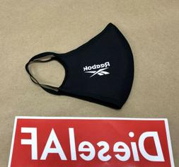REEBOK Single Face Mask Cover Protection Black Adult LARGE -
