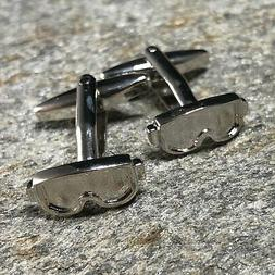 Ski Mask Cufflinks / Skier Gift / Skiing Jewelry