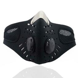 Riding Air Purifying Mask With 2 Activated Carbon Valve Mout