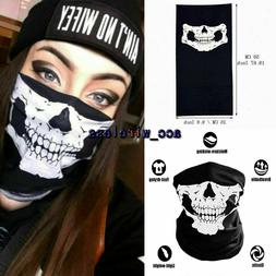 Skull Face Mask Bandana Cooling Breathable Scarf Neck Gaiter