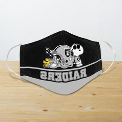 Snoopy Joe Cool Oakland Raiders Face Mask Unisex Cover Mouth