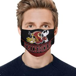 Snoopy Joe Cool Washington Redskins Face Mask Unisex Adult M
