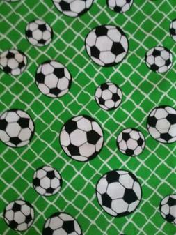 SOCCER BALL Sports Green fabric 100 % cotton Sewing 16 inche