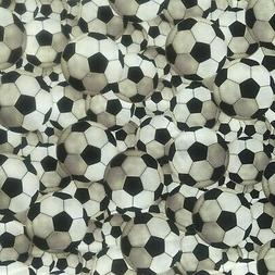 "Soccer Ball  Fabric-FQ-Fat Quarter-18""H x 21""W-100% Cotton-Q"