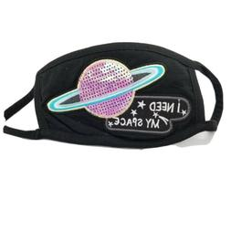 Space theme Washable Reusable Face Mask Double Layer Breatha