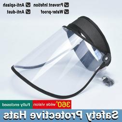 Splash Face Saliva-proof UV Safety Cap Full Face Protective