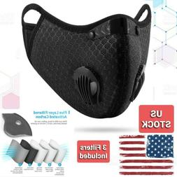 West Biking Sport Face Mask with 3 PM2.5 filters included, f