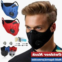 Sport Face Mask With Filter Activate Carbon Anti-Pollution C