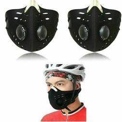 Sport Face Mask With Filter Activated Carbon PM 2.5 Anti Pol