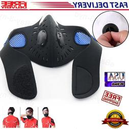 Sport Reusable Cycling Face Mask with Activated Carbon Filte