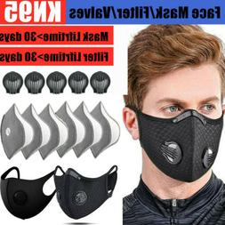Sport Reusable Washable Face Maske With Breathing Valves & C