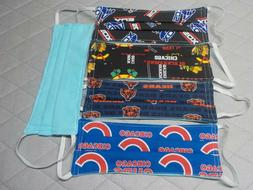 Sports Face Mask -Cotton Flannel Lined - Chicago Cubs Bears
