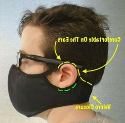 Sports Face Mask For Active Commuter. Velcro Strap. Filter P
