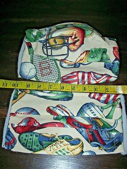 """Sports"" L -  XXL  - Hand Made Washable Cotton Mask"