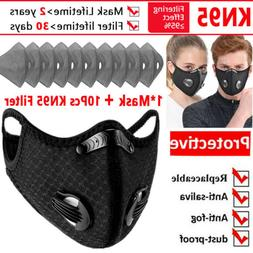Sports Mask with 10PCS Activated Carbon Filter Pad Face Mask