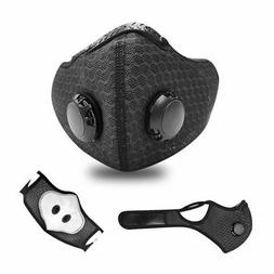 Sports Reusable Face Mask Activated Carbon Filter Exhale Val