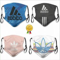 ADIDAS Sports Reusable Washable Facemask with  Activated Car