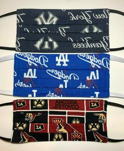 Sports Team Themed 100% Cotton Face Mask