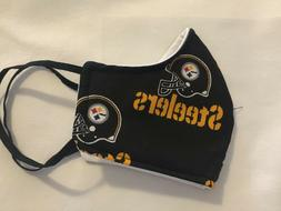 Steelers face mask with filter lining /Made in USA/ Adjustab
