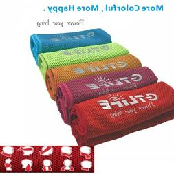 SUPER ICE COOLING TOWEL For Face Mask & Sports Running Yoga
