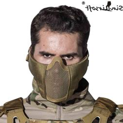 Tactical Airsoft Metal Steel Mesh mask Half Lower Face Prote
