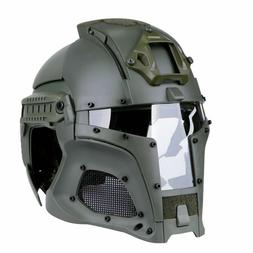 Tactical Full Face Mask Helmet Outdoor Sports Motorbike Airs