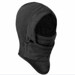 Thermal Fleece Balaclava Hat Hooded Neck Warmer Winter Sport